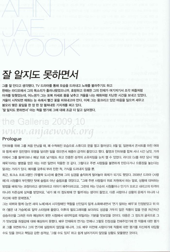 GALERIA AHN JAE WOOK 안재욱 200910galleria04